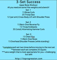three set success