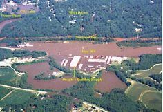 Aerial Views of Flooding
