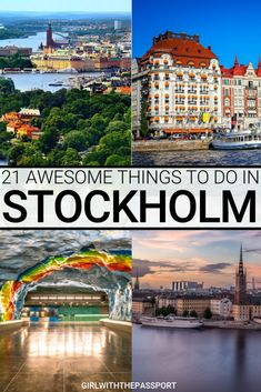 From exquisite seaside views to enchanting architecture to awe-inspiring boat tours, there are so many exciting things to do in Stockholm. So if you're wondering what to do in Stockholm, then check ou Europe Travel Tips, European Travel, Travel Advice, Travel Guides, Travel Destinations, Stockholm Travel, Visit Stockholm, Stockholm Winter, Oslo