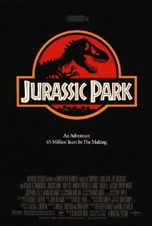 """Jurassic Park"" (1993).  During a preview tour, a theme park suffers a major power breakdown that allows its cloned dinosaur exhibits to run amok.  Sam Neill, Laura Dern and Jeff Goldblum."