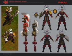 ingame concept art Dragonblade Riven - League of Legends