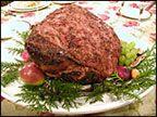 Grainy Mustard Glazed Ham for Easter Dinner.