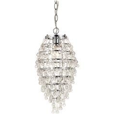 Crystal Teardrop Mini Chandelier - 8122-1H