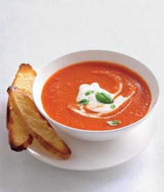 Rajčatová polévka Soup Recipes, Vegetarian Recipes, Dessert Recipes, Healthy Recipes, Tasty, Yummy Food, Healthy Cooking, Curry, Food And Drink