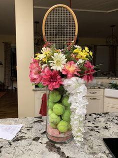 Tennis Decorations, Sports Centerpieces, Beach Tennis, Tennis Party, Tennis Clubs, Tennis Racket, Graduation Open Houses, Tennis Association, 65th Birthday