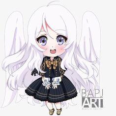 Beatriz A. Neko, Chibi, Dan, Kawaii, Angel, Fantasy, Cartoon, Comics, Drawings
