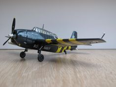 A Grumman (General Motors) TBM-3S Avenger A.S. Mk.5 in the colours of 820 Squadron of the Royal Navy, based on board of HMS Bulwark during the Suez Crisis of October 1956. Great Britain received a ...