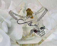 Silver InfinityRemembrance Heart CharmAngel by JubileeJewelryWGAP