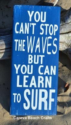 Beach Decor Beach Sign Surf Décor Coastal Decor by CarovaBeachCrafts Hand Painted Wood Sign