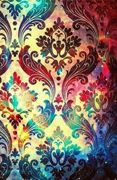 #Colorful #Starry #Damask