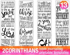 EPHESIANS - 4 Bible journaling printable templates, instant download illustrated christian faith bookmarks, black and white prayer journal bible verse traceable stencils, bible stickers.  ♥ Ephesians 1:17 May the glorious Father give you the Spirit of wisdom... ♥ Ephesians 3:18 May you have power to grasp how wide and long... ♥ Ephesians 5:19 Speaking to one another with psalms, hymns and... ♥ Ephesians 6:17 Take the helmet of salvation and the sword of the Spirit...  This set is included in…