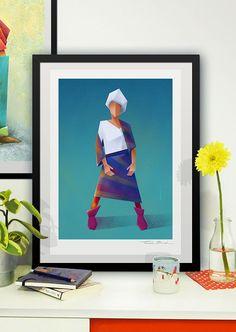 Fashion - llustration art giclée print signed by the artist. 30x40cm. Tomek Biniek. by TomekBiniek on Etsy