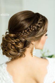 Wedding Hairstyle - via El Stile