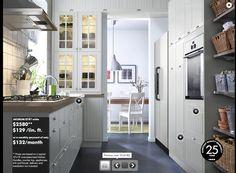 white kitchen - ikea