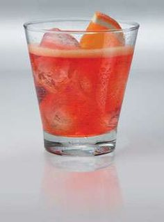 Aperol Spritz!   Loved this drink in Italy...refreshing!   2 oz. Prosecco, 1 1/2 oz. Aperol Orange Liqueur, splash of Soda; add wedge of orange