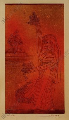 At the Flora Temple 1926 Paul Klee