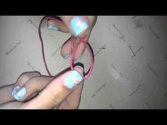 Cómo hacer el nudo corredizo - nudo para pulseras o collares - YouTube