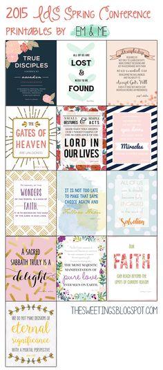em & me: 2015 LDS General Conference printables