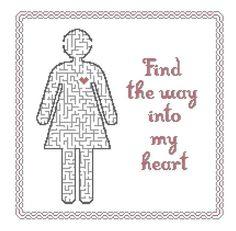 Cross stitch pattern  Find the way into my heart by XOstitch