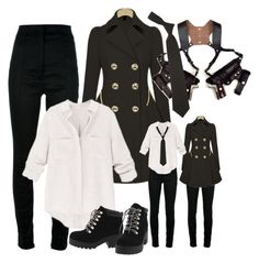 """""""Sheriff"""" by ironraven281 ❤ liked on Polyvore featuring Haider Ackermann, French Toast and RED Valentino"""