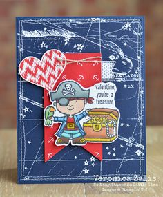 You're A Treasure - Stampin' Up! Hey, Valentine, Itty Bitty Baby, Occasions Catalog 2015