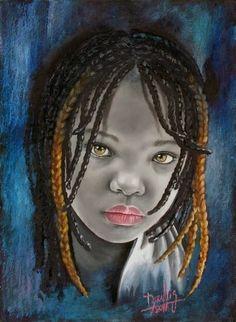 Retratos al leo de ni os negros africanos dora alis - Retratos de ninos al oleo ...