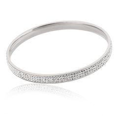 Fashion Women Bracelet & Bangle Jewelry Elegant Stainless Steel Pave High Quality Crystal Pulseira Jewelry