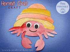Hermit Crab Printable Craft | LearnCreateLove.com