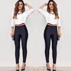 """legging com- Cós alto """"look"""" super glamouroso, se preferir chamar de sensual também pode."""