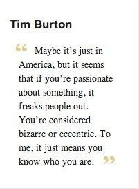 """""""Maybe it's just in America, but it seems that if you're passionate about something, it freaks people out. You're… http://ibeebz.com"""