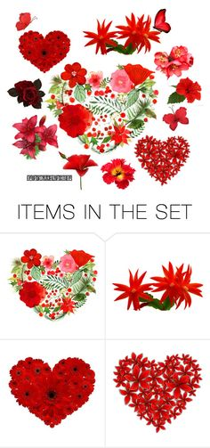 """""""Red Flowers"""" by lisariel ❤ liked on Polyvore featuring art"""