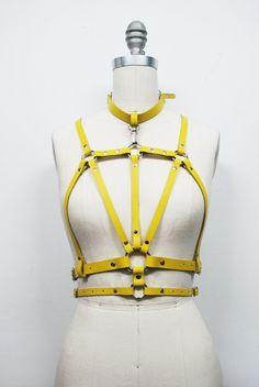 Zana Bayne Leather — Cruxus Harness - Yellow