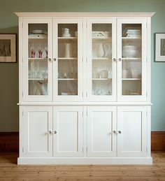 Painted Kitchen Dressers and Fine Free Standing Furniture from The Kitchen Dresser Company / Furniture - The Morning Room - The Glass Cupboard Free Standing Kitchen Cabinets, Glass Kitchen Cabinet Doors, Kitchen Wall Cabinets, Kitchen Dresser, Glass Door Knobs, Kitchen Backsplash, Kitchen Nook, Glass Doors, China Cabinet
