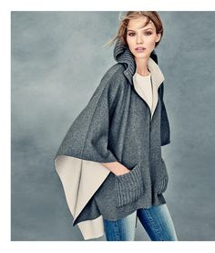 This poncho/ hoodie thingamajig is my new fall fantasy.