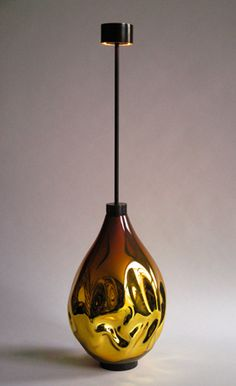 Jeremy Wintrebert | Petrol | 2013, Blown glass, brass, LED | Edition of 11 + 1AP | France