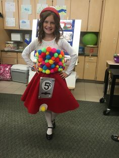 Gumball costume More Candy Costumes, Halloween Costumes For Girls, Disney Halloween, Diy Costumes, Halloween Kids, Halloween Parties, Halloween 2018, Halloween Candy, Halloween Crafts