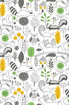 Country Life wallpaper design by Nancy Wolff | Loboloup
