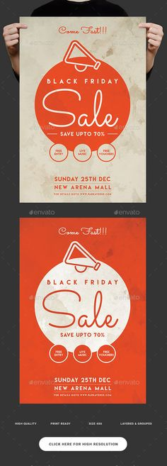 Black Friday Sale Flyer Psd templates, Black friday and Template - discount flyer template