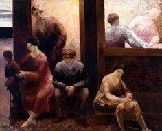 Wim Oepts: Mensschen voor huis 1928. Venduhuis Den Haag