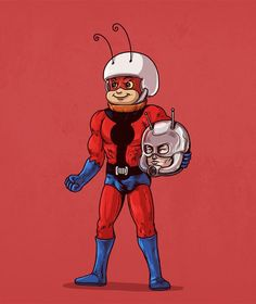 Ant Man Unmasked #iconsunmasked   For the book prints originals and more from the series check out the Kickstarter  you'll be helping to fund the project! Link on my profile page.  http://kck.st/1XZJRLt  Thank you @triplesartists for the suggestion on this one! :) by alexmdc