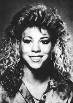 "In 1987, Mariah Carey sported sky-high hair during her senior year at Harborfields High School in Greenlawn, New York. As a result of her frequent absences (due to her work as a demo singer), Carey's classmates nicknamed her ""Mirage."""