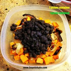 21 day fix - Butternut squash and spicy black bean snack or side created by coach Kate Brockmeyer - easy for on the go.  www.facebook.com/koyotekate