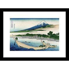 Buyenlarge Shore of Tago Bay, Ejiri at Tokaido by Katsushika Hokusai Framed Painting Print