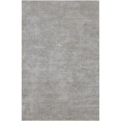 Luminous Area Rug in White, Flint Grey, and Pewter design by Candice Olson