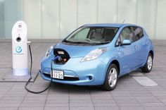 Nissan Leaf Electric Vehicles Are Ing Office Buildings In An