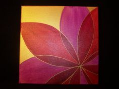 Red Petals II - Abstract Floral Acrylic Painting on Etsy, $30.00