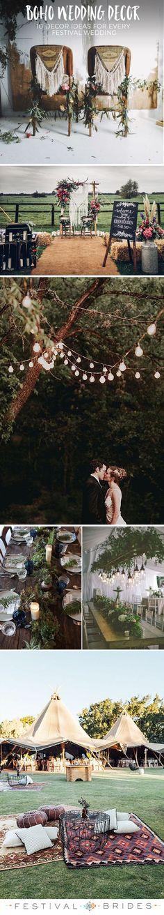 10 Boho Decor Details Every Festival Wedding Needs…. Chic Wedding, Trendy Wedding, Perfect Wedding, Rustic Wedding, Dream Wedding, Wedding Ideas, Wedding Reception, Wedding Arches, Forest Wedding