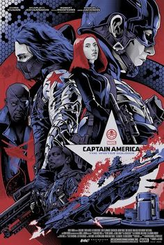 """Captain America: The Winter Soldier"" Limited Variant - Marvel Poster – Grey Matter Art Marvel Movie Posters, Movie Poster Art, Marvel Movies, Captain America Winter, Marvel Captain America, Marvel Art, Marvel Heroes, Comic Books Art, Comic Art"