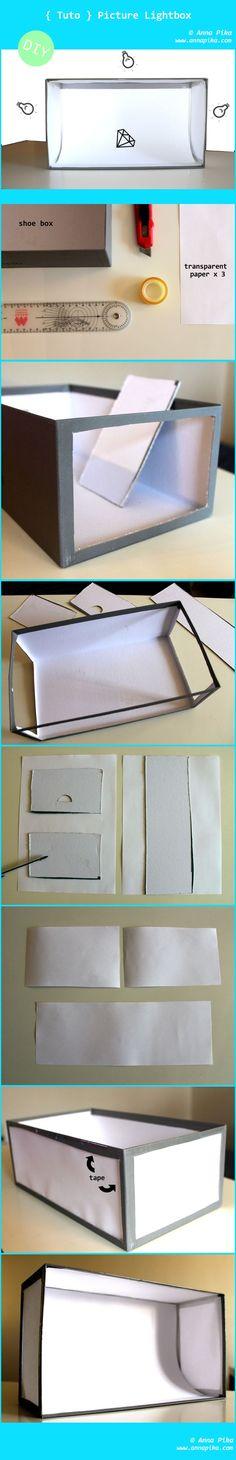tutoriel boîte à lumière  www.annapika.com/boite-lumiere-tutoriel/