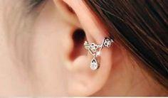 Ear Jewelry, Body Jewelry, Jewlery, Silver Jewelry, Cuff Earrings, Rhinestone Earrings, Helix Earrings, Wire Ear Cuffs, Glamour